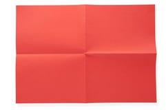 Documento rosso piegato Immagine Stock