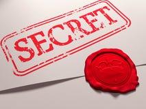 Documento secreto Imagen de archivo libre de regalías