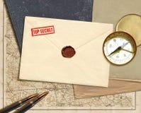 Documento secreto militar Imágenes de archivo libres de regalías