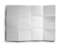 Documento sgualcito bianco immagine stock