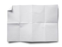 Documento sgualcito su bianco immagine stock
