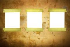 Documento sobre la pared Imágenes de archivo libres de regalías