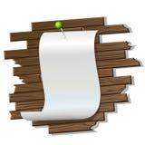 Documento sobre la pared de madera del twe Imagenes de archivo