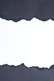 Documento strappato fotografie stock libere da diritti