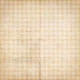 Documento strutturato controllato dell'annata antica con gli assegni Fotografia Stock