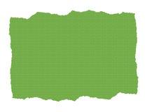 Documento strutturato verde strappato Fotografie Stock
