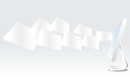 Documento su fondo da tavolino Immagini Stock Libere da Diritti
