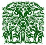 Documento-tagli della foresta Immagini Stock
