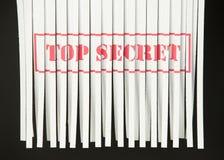 Documento tagliuzzato - top secret Immagine Stock