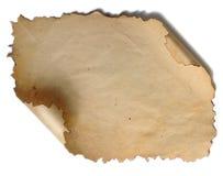 Documento viejo sobre el fondo blanco Fotografía de archivo libre de regalías