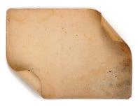 Documento viejo sobre el fondo blanco Foto de archivo libre de regalías