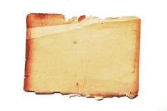 Documento viejo sobre el fondo blanco. Fotos de archivo libres de regalías