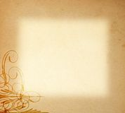 Documento viejo sobre el ornamento del marco Imagen de archivo libre de regalías