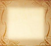 Documento viejo sobre el ornamento del marco Imágenes de archivo libres de regalías