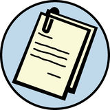 Documentos ilustración del vector