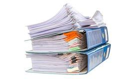 Documentos aislados en blanco Imagen de archivo libre de regalías