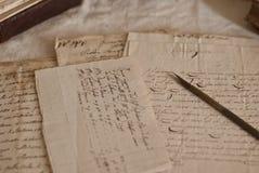Documentos antiguos Imágenes de archivo libres de regalías