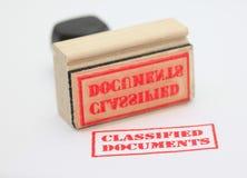 Documentos clasificados Imagen de archivo libre de regalías