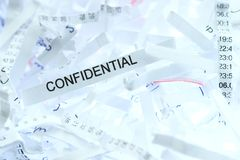 Documentos confidenciales Foto de archivo