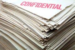 Documentos confidenciales Fotos de archivo libres de regalías