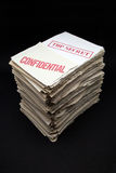 Documentos confidenciales y secretos Fotografía de archivo
