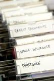 Documentos de la hipoteca Imagenes de archivo