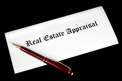 Documentos de la valoración de propiedades inmobiliarias imagenes de archivo