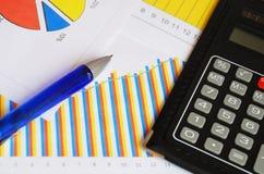Documentos de las finanzas Fotografía de archivo