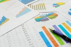 Documentos de las finanzas Fotografía de archivo libre de regalías