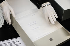 Documentos de los cosacos ucranianos almacenados en el archivo de estado de sueco fotos de archivo libres de regalías