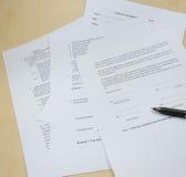 Documentos de negocio. fotografía de archivo libre de regalías