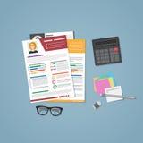 Documentos del CV con la materia libre illustration