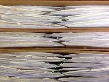 Documentos dentro de carpetas Fotografía de archivo libre de regalías