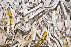 Documentos destrozados Foto de archivo libre de regalías