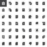 Documentos e iconos del vector de los ficheros fijados ilustración del vector
