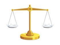 Documentos en el equilibrio stock de ilustración