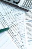 Documentos financieros Fotografía de archivo libre de regalías