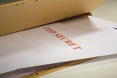 Documentos secretos Imágenes de archivo libres de regalías