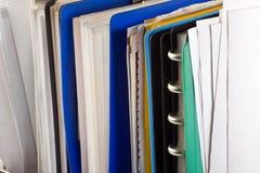 Documentos y carpetas de fichero Imagen de archivo libre de regalías