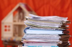 Documents. Some documents to build a house royalty free stock photography