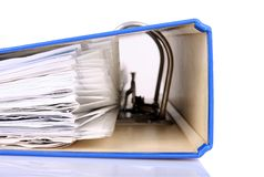 Documents. Close up of file with documents Royalty Free Stock Photo