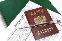 Documents for admission to the exam in the Russian Federation / Stock Photography