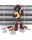 Documents androïdes de classement Images stock
