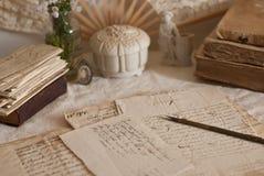 Documents antiques Photos stock