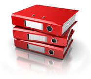 Documents archive. Documents folders over white background Royalty Free Stock Image