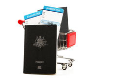 Documents australiens de passeport et de voyage Photographie stock libre de droits