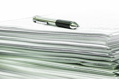 Documents and ball pen Stock Photo
