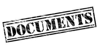Documents black stamp. Isolated on white background Royalty Free Stock Image