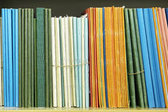 Documents on a bookcase Royalty Free Stock Photos