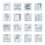 Documents buttons Royalty Free Stock Photos